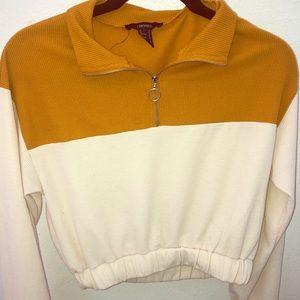 Cream and Mustard Yellow/Orange Sweater